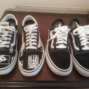 "Vans ""Off the Wall"" Black & White LOGO sneakers US"